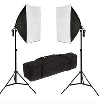 Photography  2x135W Soft Box Studio Continuous Lighting Kit Lighting Softbox Light Stand  godox tl 5 photo studio continuous lighting tricolor light head light stand softbox photography lighting kit