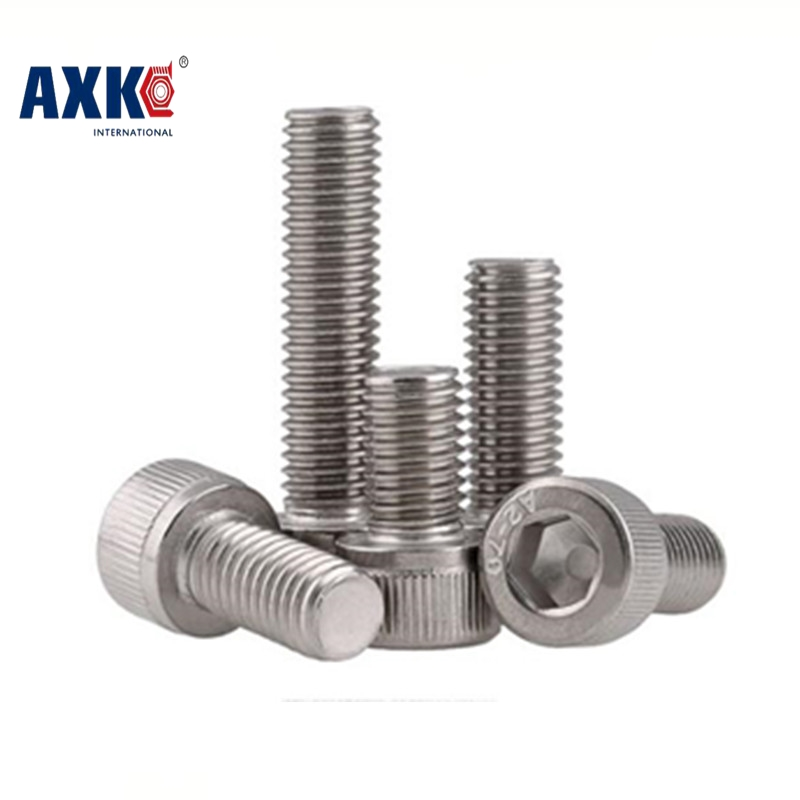 free shipping 50pcs/lot DIN912 M3*5/6/8/10/12/14/16/18/20/25/30 Stainless Steel 304 Hexagon Hex Socket Head Cap Screw 2pc din912 m10 x 16 20 25 30 35 40 45 50 55 60 65 screw stainless steel a2 hexagon hex socket head cap screws