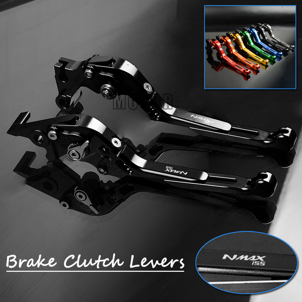 For YAMAHA NMAX155 2015 2016 2017 NMAX 155 Motorcycle CNC Aluminum Foldable Brake Clutch Levers Adjustable Folding Extendable for honda crf1000l africa twin 2015 2018 foldable extendable clutch brake levers folding extending cnc 2016 2017 adjustable