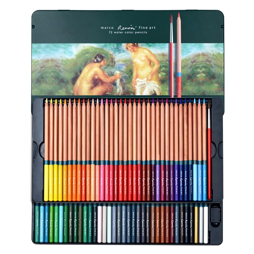 scribble scribble pen Marco Renoir 24/36/48/72 color water soluble professional art color pencil 3120 цена