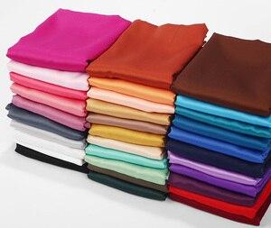 Image 3 - Foulard en Satin lisse, couleur mate, châle musulman, couleur unie, Hijab en Satin, écharpe musulmane, 32 couleurs au choix, 2020