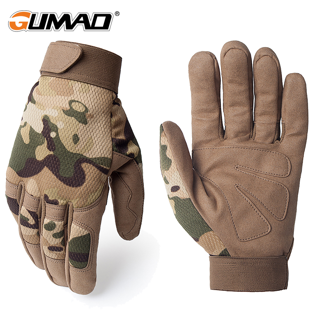Multicam Outdoor Tactical Gloves Army Military Bicycle Airsoft Hiking Climbing Shooting Paintball Camo Sport Full Finger Gloves цена 2017
