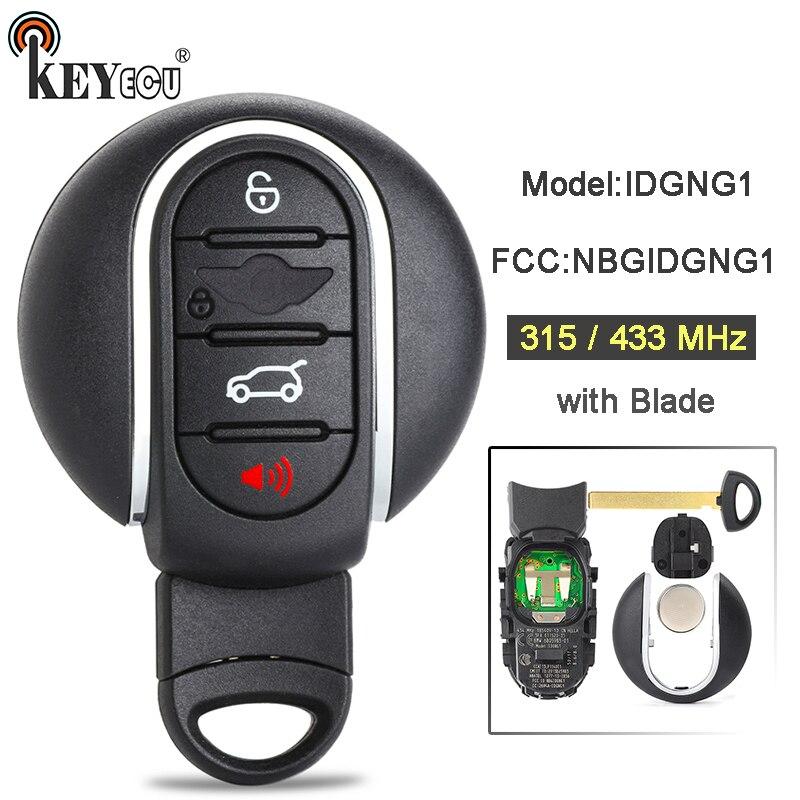 KEYECU 10x315/434 MHz FCC ID: NBGIDGNG1 modèle: IDGNG1 Smart 3 + 1 4 bouton télécommande voiture porte-clés pour BMW Mini Cooper Clubman