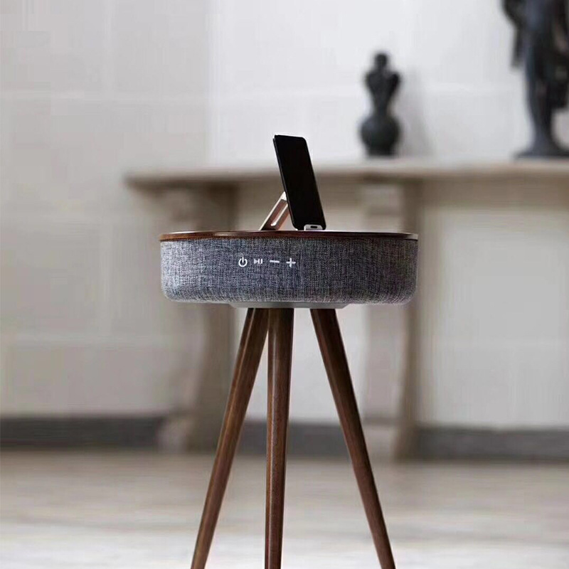 Blueman Audio Home Wireless Charging Bluetooth Speaker Desktop Wood Subwoofer Home Companion Table Coffee Table Sound цены онлайн