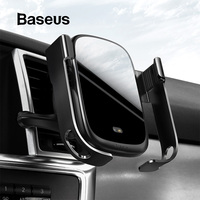 Baseus 10W Qi Wireless Charger For iPhone XR X Samsung Car Charger Intelligent Infrared Fast Wireless Charging Car Phone Holder
