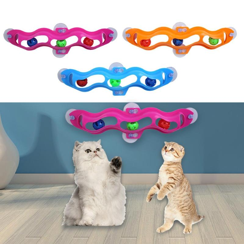 Cat Toys Interactive Track Ball toy Cat practical Window Suction Cup Track Ball Play Tunnel Pet Toys Pet Accessories image