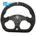 14inch 350mm D Shape Carbon Fiber Steering Wheel Universal Racing Car Suede Leather Steering Wheel