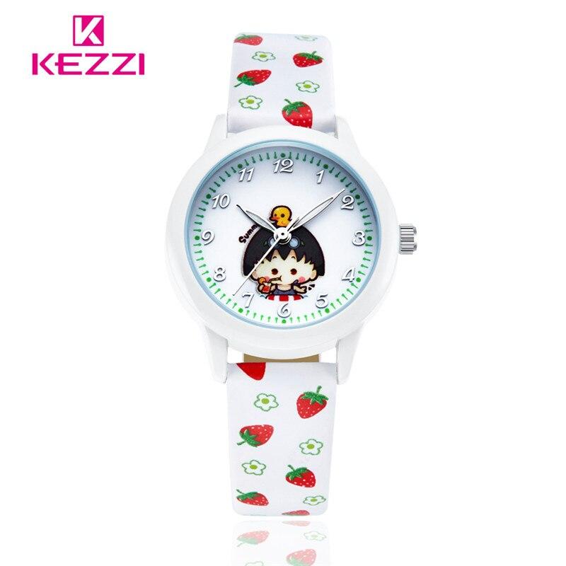 Top Luxury Brand Leather Cartoon girl watch Kids Quartz Watch Children Watches Relogio Infantil Reloj Hombre Montre Enfant k1206