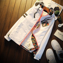 Hohe Qualität Jacke Mäntel Männer Kausalen Kapuze arbeits Jacke 2016 Mode Männer Dünne Windbreaker Zipper Mäntel Outwear