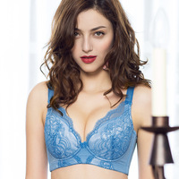 Sexy Lingerie Women Underwear Bra Push Up 2016New Arrivals Luxury Thin Underwire 3 4 Cup Solid