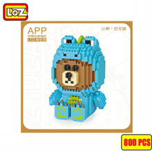 цены Diamond MINI Blocks Cartoon Building Toys bear dog duck Assembly For Children Auction Animal Model Kids Gifts LOZ vs BALODY YZ