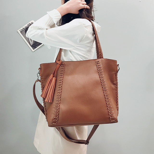 9e5153507113 US $17.02 41% OFF KMFFLY Vintage Tassel Big Bag Women Messenger Bags Large  Capacity Shoulder Bags Famous Brand Women Crossbody Bag Sac a Main-in ...
