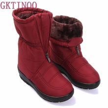 2017 otoño invierno casual botas de nieve impermeables de las mujeres del tobillo botas planas térmicas antideslizante moda de invierno zapatos de mujer