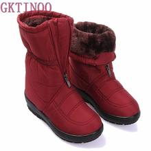 2017 autumn winter casual snow boots waterproof women ankle boots thermal flat slip-resistant fashion winter shoes woman