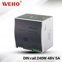 (DRP 240 48)Cooling Aluminum shell 240W 48V Switching power supply 240w 48v dc din rail power supplies