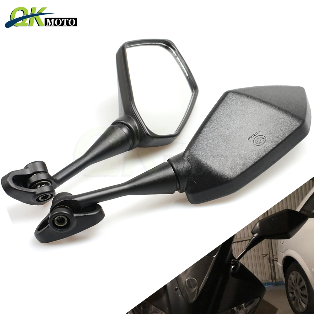 Motorcycle Mirror Black <font><b>Moto</b></font> Rearview Side Mirrors For Yamaha YZF600 <font><b>YZF</b></font> <font><b>R1</b></font> R6 R3 R125 R25 R15 yzfr3 2003 2004 <font><b>2005</b></font> 2009 ktm bmw image