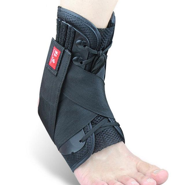 Preto Professional Super Forte Bandagem No Tornozelo Ankle Brace Suporte Sports Pé Estabilizador Guarda Dor Cinta Envoltório Entorse Basquete