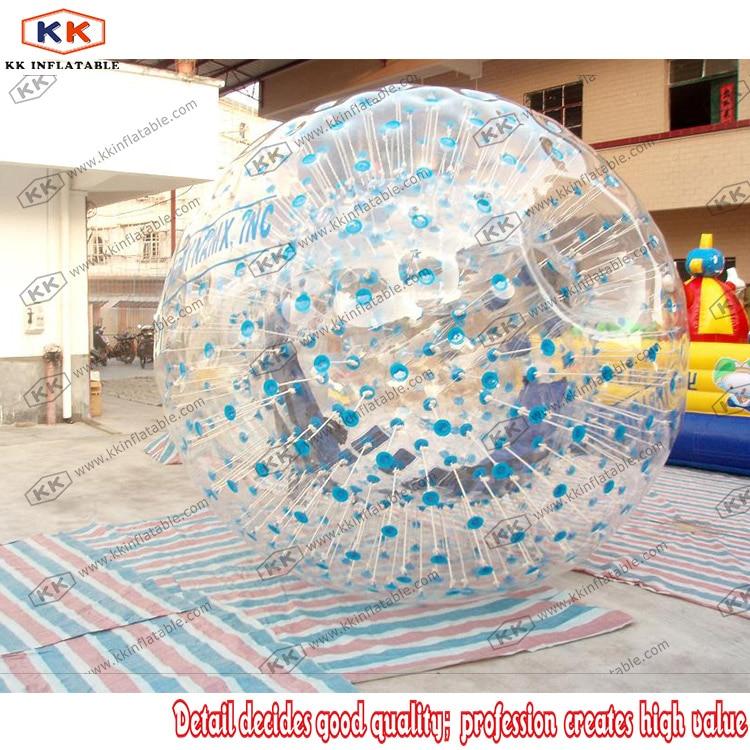 Boule de Zorbing gonflable claire/transparente d'amusement adulte