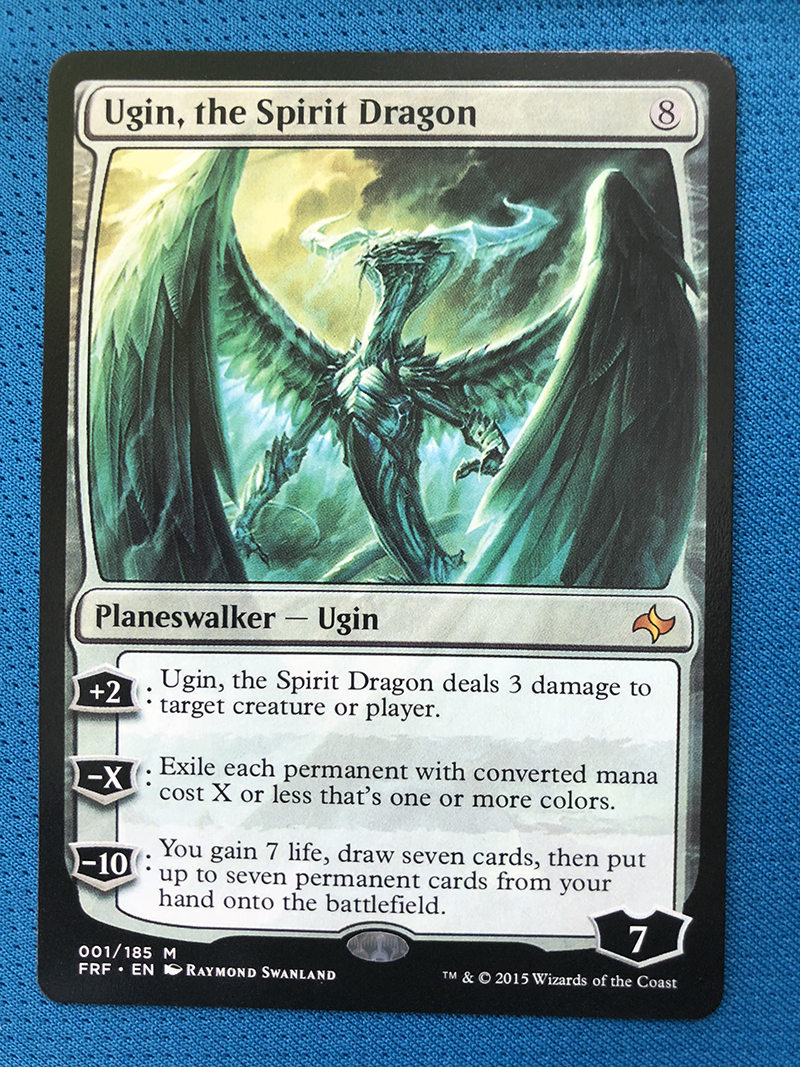 Ugin, The Spirit Dragon Fate Reforged Hologram Magician BlackLotus 8.0 VIP The Proxy Cards To Gathering Every Single Mg Card.