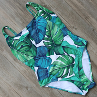 Customize One Piece Hawaii Swimsuit Tropical Style Swimwear Women Backless Swimming Bathing Suit Swim Suit Bodysuit
