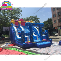 Inflatable Bouncy Slide Castle For Kids Jumping Children Slide Free Air Blower Inflatable Slide Fun City Children's Playground