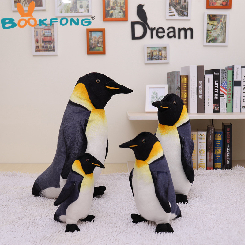 High Quality Cute Penguin Plush Toy Real Life Stuffed Dolls Best Gift Toy For Kids