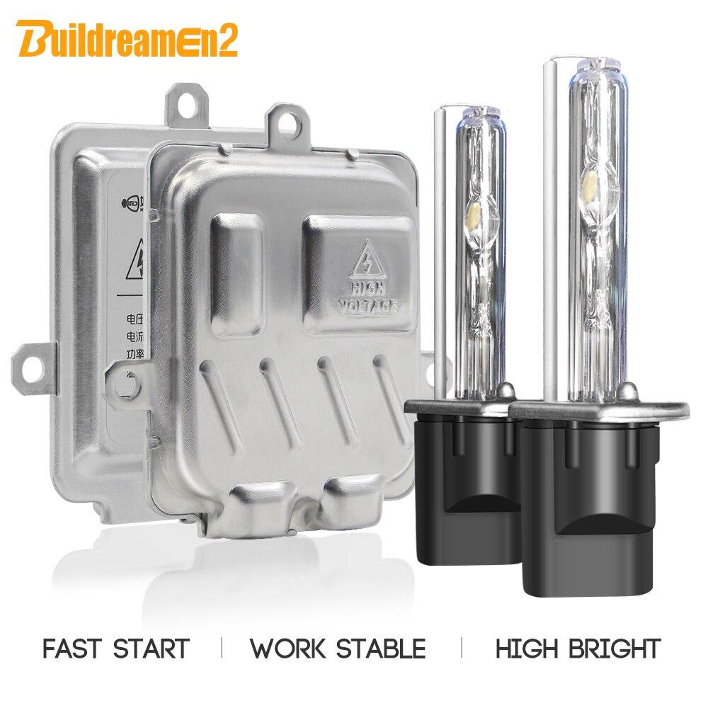 Buildreamen2 H1 H7 H11 Headlight Quick Start Xenon Light AC Ballast Bulb H3 9005 9006 881 3000K-8000K 12V Car Headlamp Fog Light