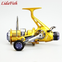 LIDAFISH KM50 60 double discharge metal head front and rear brake wire reel sea fishing wheel cast squid fishing reel