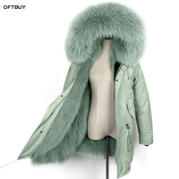 OFTBUY 2019 waterproof long parka winter jacket women real natural fur coat raccoon fur collar fox fur liner outwear korean new