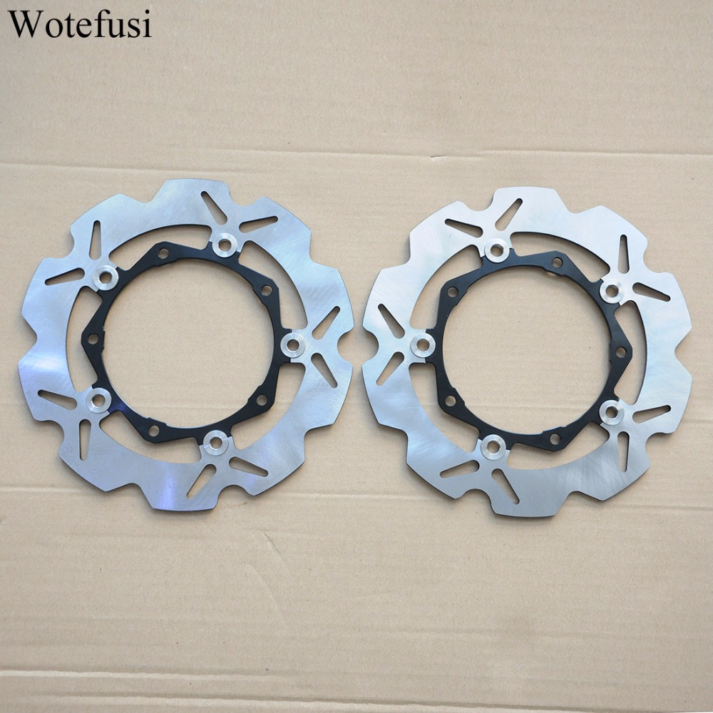 Wotefusi Front Brake Discs For Yamaha 04-07 T-MAX500 12 13 14 15 T-MAX530 05 06 07 MAJESTY 400 [PA412]
