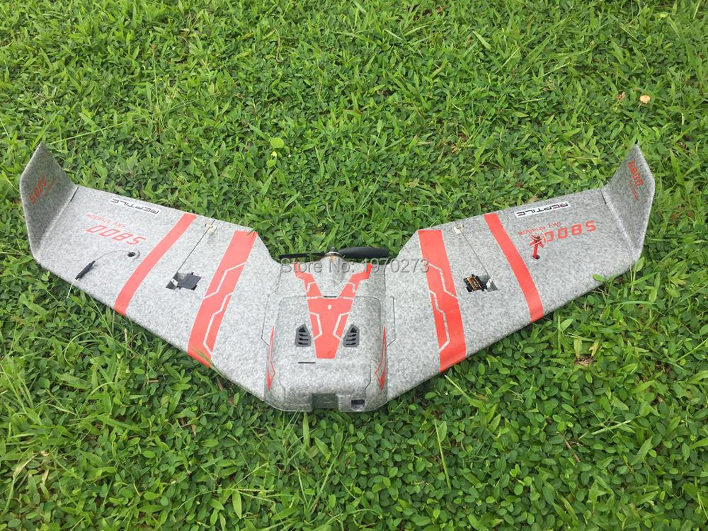 reptile s800 v2 - Reptile S800 V2 SKY SHADOW 820mm Wingspan Gray FPV EPP Flying Wing Racer KIT Version