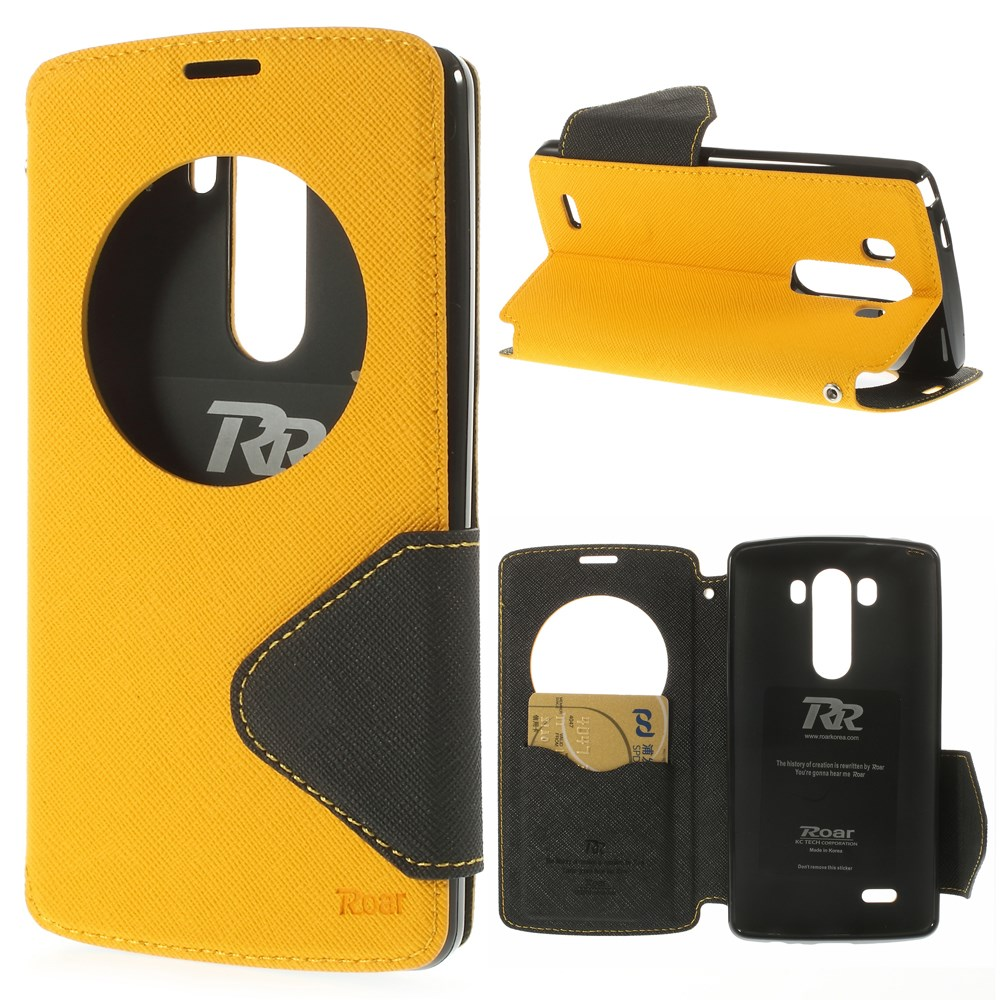 For LG G3 G4 G5 G6 G3mini Leather Case Roar Korea Fancy Diary Quick Circle Leather Flip Cover for LG G3 D850 LS990 FREE SHIPPING