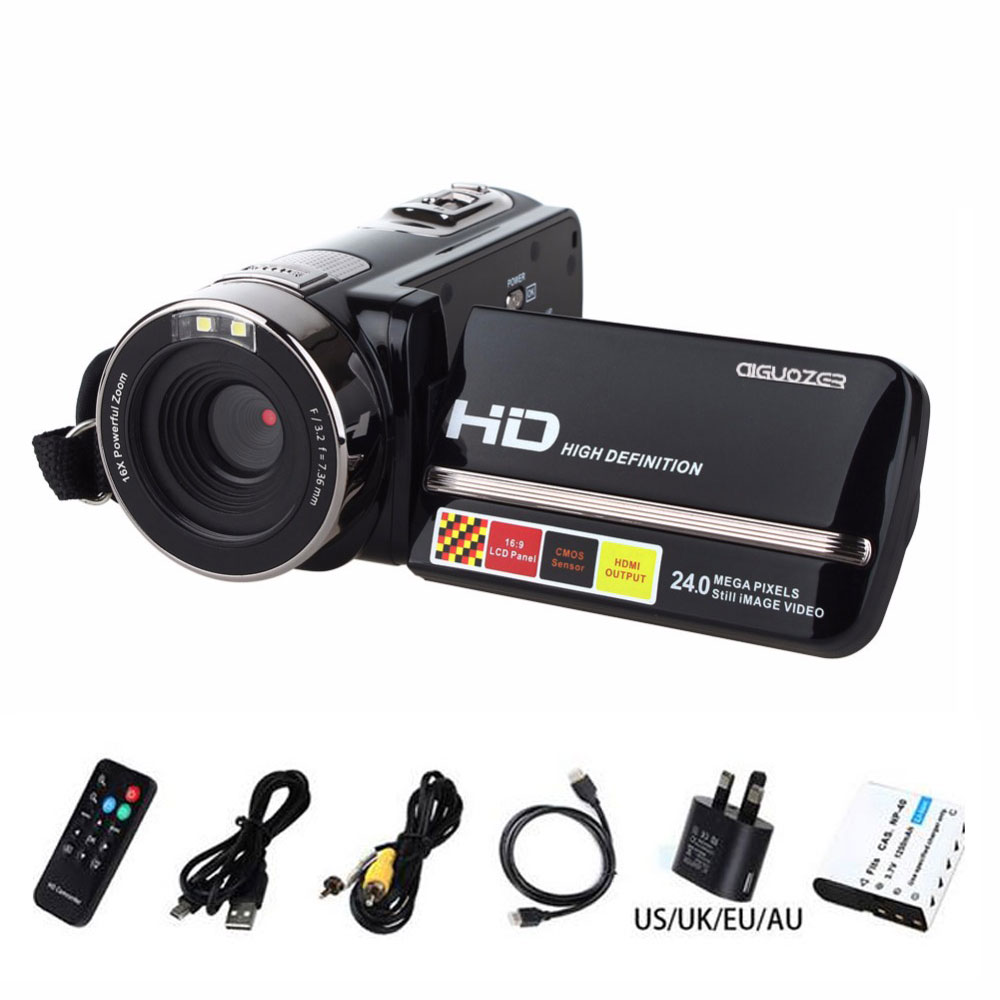 Newest Video Cameras 1080P Full HD 24MP Mini Camcorder 3.0 Rotatable TFT LCD IR Night-Shot Digital Video Camera