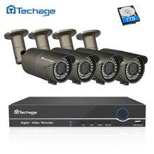 Techage 8CH 4CH 1080P HDMI 48V POE NVR CCTV System 2.8-12mm Zoom Varifocal Lens 2MP IP Camera Outdoor Security Surveillance Kit