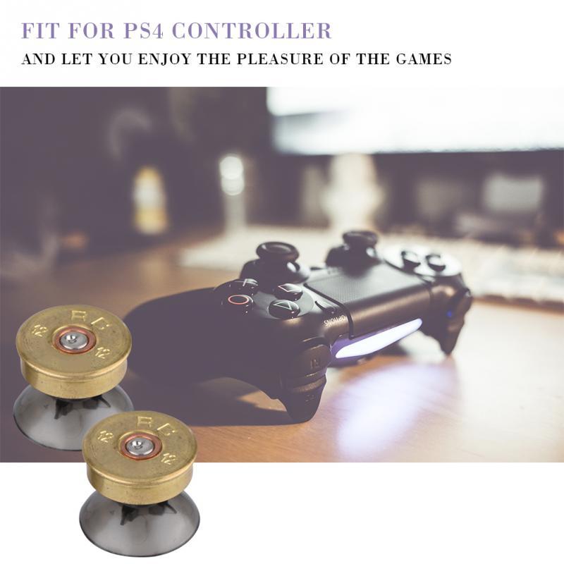 6 шт. золотые металлические пуговицы в виде пуль и джойстик мод комплект для PS4 контроллера