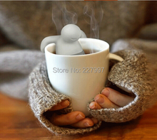 Free Shipping 200pcs/lot Mr Tea Throw Some Tea in the Trousers Hang Out Food Grade Silcione infuse (OPP bag package)