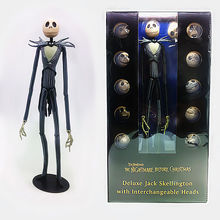 The Nightmare Before Christmas Deluxe Jack Skellington with Interchangeable Heads Action Figure Collectible Model Toy Gift funko pop jack skellington 15 the nightmare before christmas action vinyl figure colletion model decoration gifts dolls