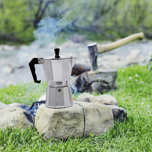 Image 5 - 50/150/300/450/600ML Aluminium Percolator Coffee Maker Pot for Outdoor Tableware Home Office Maker Outdoor Tableware