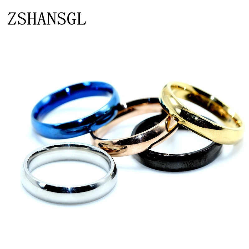 Titanium Steel Rings for Men Anti-allergy Smooth Simple Matt 316L Stainless Wedding Couples Rings Bijouterie for Man Woman Gift