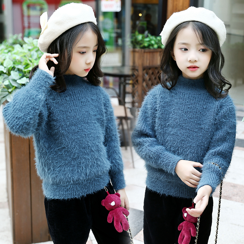 Girls Teenage Sweater New Children Knitted Pullover Kids Clothes Long Sleeve O Neck Girls Sweaters Children Kids Warm Outerwear hot sale kids sweater boys sweater children autumn winter solid cotton long sleeve girls pullover o neck 50w0020