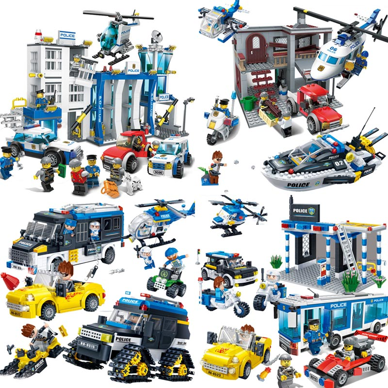 Military Series Police Kids Building Blocks City Weapon Ship Aircraft Car Dolls Boys Toys Compatible with Legoe kazi 228pcs military ship model building blocks kids toys imitation gun weapon equipment technic designer toys for kid