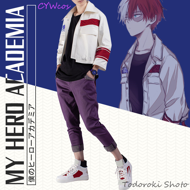 My Hero Academia Anime Cosplay Todoroki Shoto Cartoon Cosplay Costume Little Hero Daily Fashion Costumes Uniforms Coat+Pants