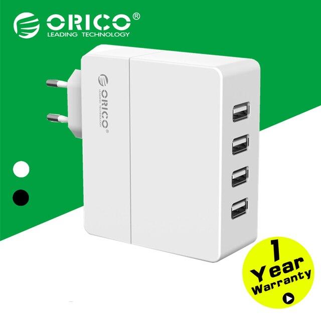 ORICO Mini 4-port USB Carregador de Telefone de Parede 5V1A * 2/* 2 5V2A 30 W com a Europa Plug-preto/Branco (DCA-4U-EU)