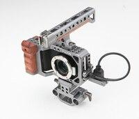 TILTA ES T13 Cage DSLR Rig /Wood Handle Grip /15mm Baseplate BMPCC for Blackmagic Pocket Camera Free Shipping