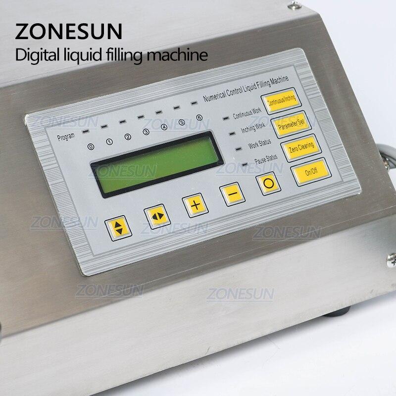 ZONESUN 5-3500 ml Machine de remplissage liquide de boisson molle d'eau contrôle numérique GFK160 eau huile parfum lait petite bouteille de remplissage - 2