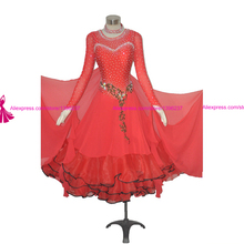 ballroom dance competition dresses modern waltz tango juvenile dancing costume red flamenco ballroom dance dress
