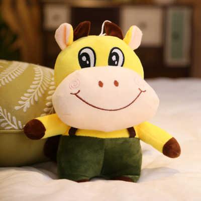 Khoảng 28 cm đáng yêu màu vàng bò đồ chơi sang trọng búp bê mềm mại quà tặng của kid món quà sinh nhật b2202