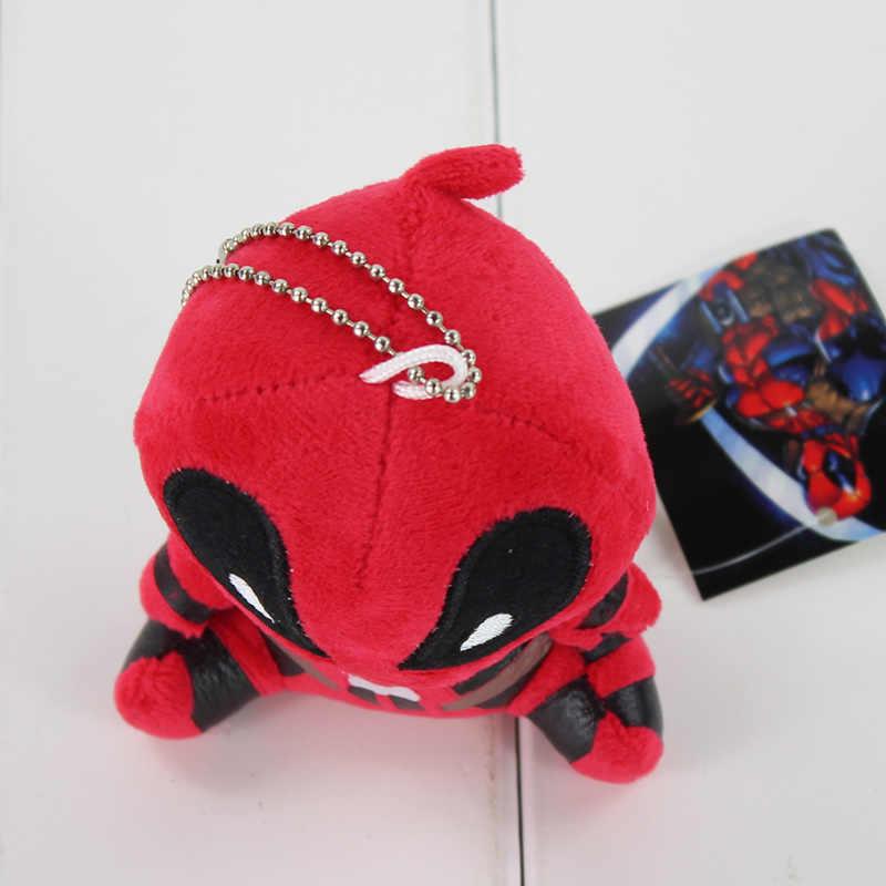 10 cm X-men Deadpool Spiderman Acessórios Pingente Chaveiro Boneca de Pelúcia Brinquedos de Pelúcia Macia para Crianças Presentes