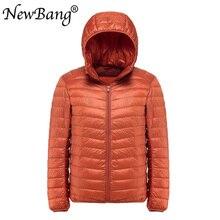 NewBang בתוספת 11XL 10XL 9XL גברים למטה מעיל קל במיוחד למטה מעיל גברים מעיל רוח נוצת Parka איש החורף גדול גודל להאריך ימים יותר