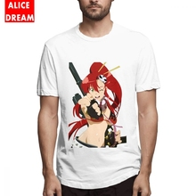 Men Gurren Lagann t shirt Yoko Littner Tee Shirt Casual T-Shirt Organic Cotton S-6XL Big Size Homme T-shirt стоимость
